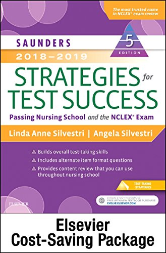 Saunders 2018 2019 Strategies For Test Success   Elsevier Ebook On Vitalsource   Evolve Access  Retail Access Cards   Passing Nursing School And The Nclex Exam  5E