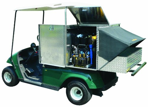 Mobile-Shop MS-GCUB Golf Cart Weather Tight Tool Storage Utility Bed,  Bright Aluminum