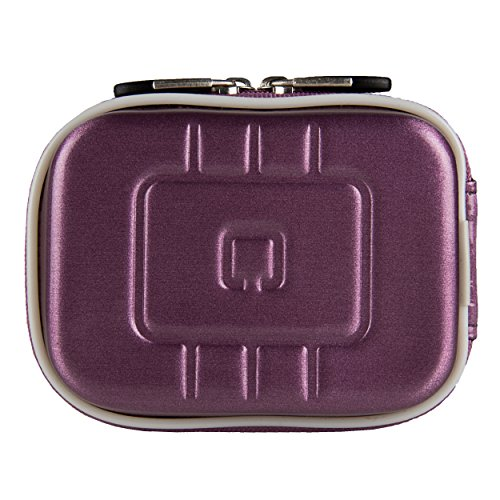 (VG EVA Compact Travel Camera Case w/Carbineer for Sony Cyber-Shot DSC-RX100 III/DSC-W800 / DSC-WX350 / DSC-W830 / DSC-W810 Digital Cameras (Purple))