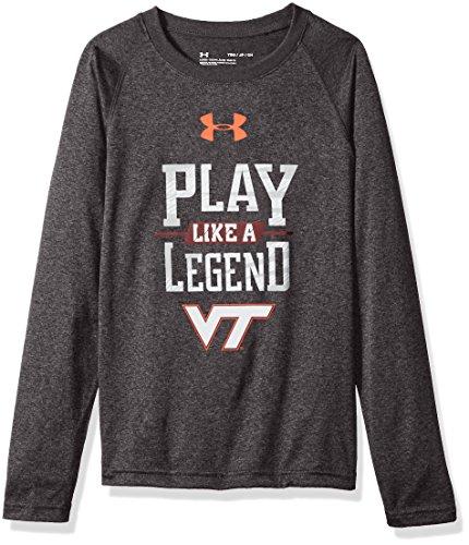 Under Armour NCAA Virginia Tech Hokies Youth Long Sleeve Tech Tee, Large, Carbon ()