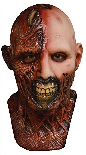 UHC Men's Scary the Darkman Superhero Horror Party Latex Halloween Costume Mask