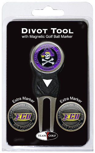 NCAA East Carolina Pirates Divot Tool Pack With 3 Golf Ball Markers