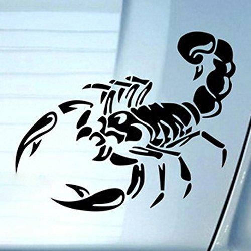 Sunward 2017 Halloween Party Prop Scorpion Black Or Black Totem Car Wall Home Sticker (Black) -