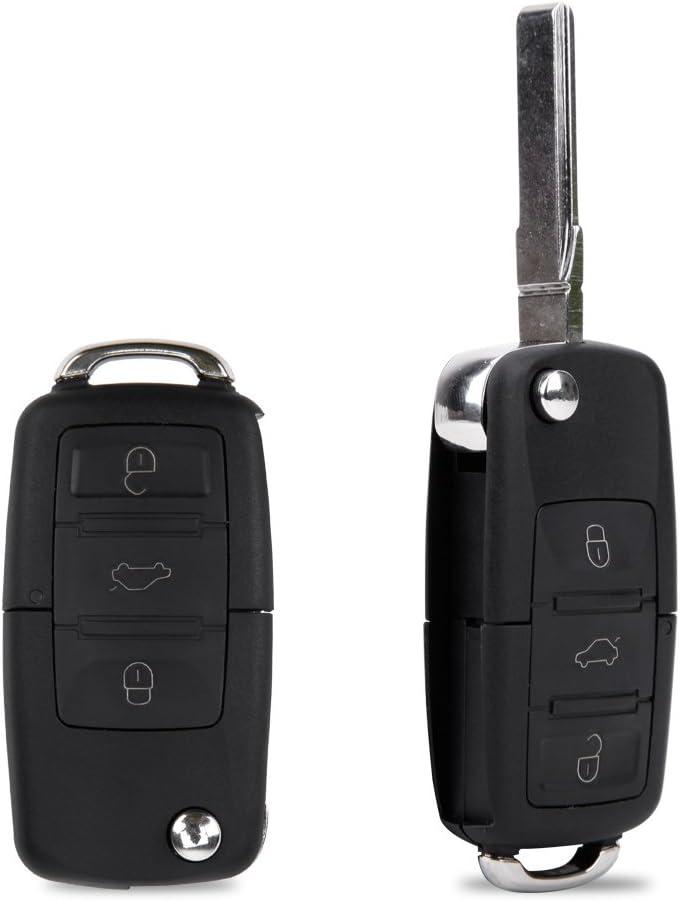2x Carcasa de Mando Llave Coche para VW Polo Golf Beetle Jetta ...