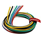 BNTECHGO 12 Gauge Silicone Wire Kit Ultra Flexible 7 Color High Resistant 600V 200 deg C Silicone Rubber Insulation 12 AWG Silicone Wire 680 Strands of Tinned Copper Wire Stranded Wire Battery Cable