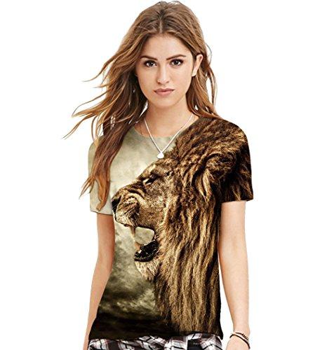 ISSHE Damen T Shirt Oversize T Shirts Rundhals Tops Herren Ausgefallene  Coole Shirts Kurzarm Frauen Sommershirt a8180c941c