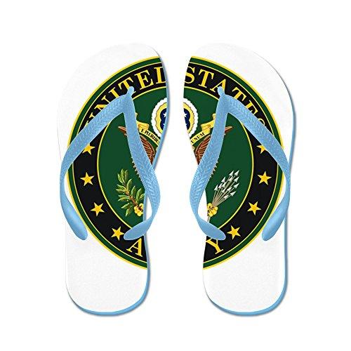 Cafepress Oss Armé Officiell Eagle - Flip Flops, Roliga Rem Sandaler, Strand Sandaler Caribbean Blue