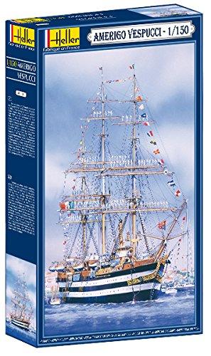 Amerigo Vespucci Model - Heller Amerigo Vespucci Boat Model Building Kit
