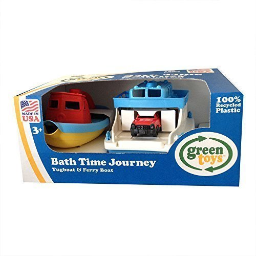 Green Toys Bath Time Journey Tugboat & Ferry Boat