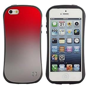 "Hypernova Slim Fit Dual Barniz Protector Caso Case Funda Para Apple iPhone SE / iPhone 5 / iPhone 5S [Degradados de color Gris Rojo Wallpaper""]"