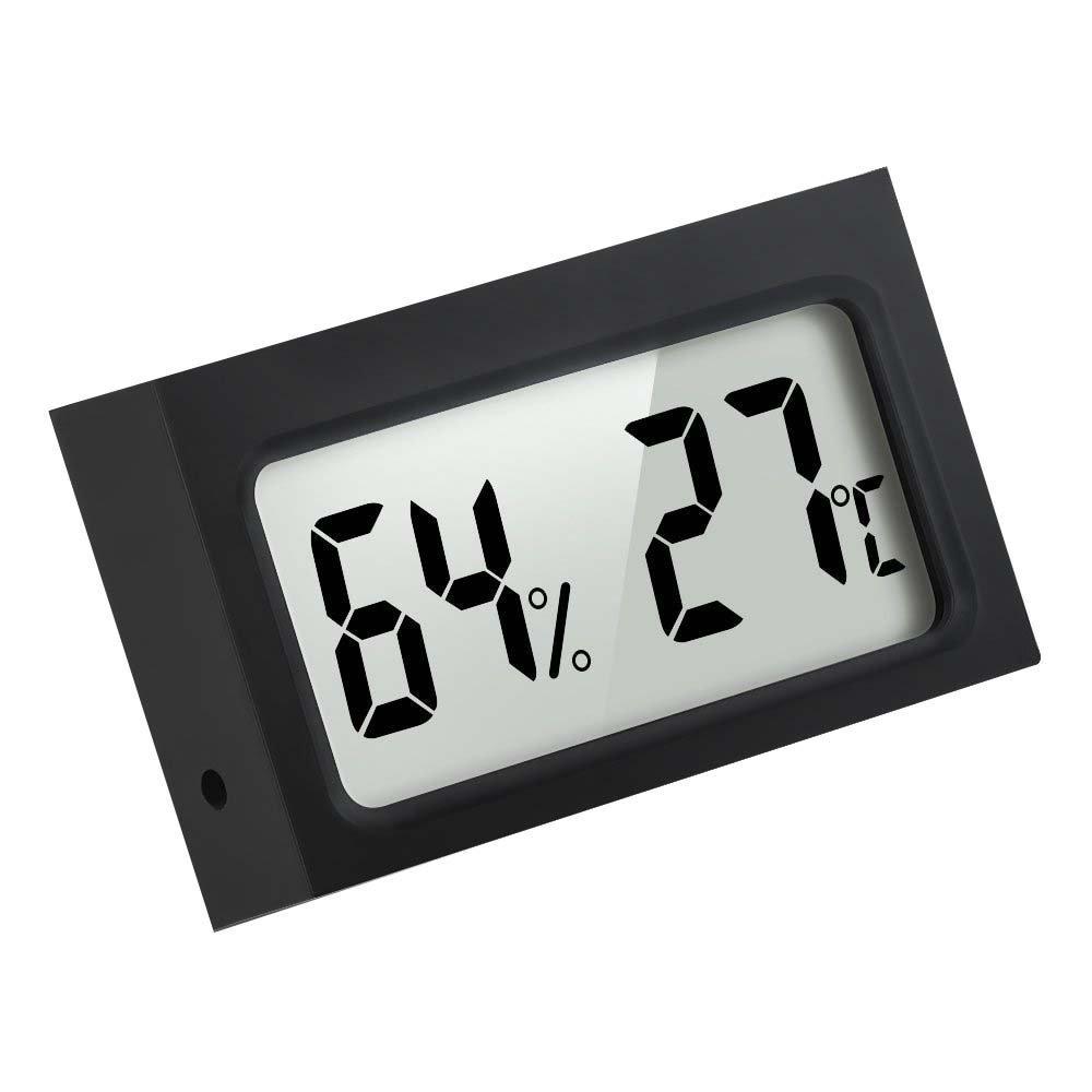 Mini Indoor Casa Interno Digitale Termometro Igrometro Misuratore di Temperatura Umidità, Nero Mudder