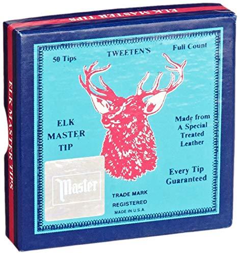 Tweeten Elk Master 13 mm Soft Leather Billiard/Pool Cue Tips, Box of 50