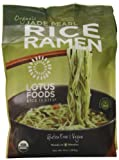 Lotus Foods Organic Jade Pearl Rice Ramen, 10 Ounce - 4 per pack - 6 packs per case.