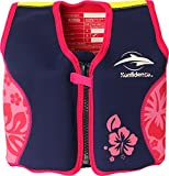 Konfidence Jacket™ Child 18 months-3 years Pink/Navy Hibiscus