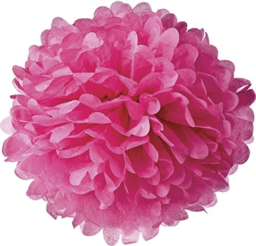 luna-bazaar-tissue-paper-pom-pom-30-inch-fuchsia-pink-for-baby-showers-nurseries-and-parties-hanging