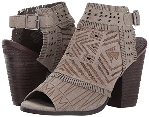 Naughty Jackie Ankle Leather Fashion Boots Taupe Sweet Monkey Light Open Toe Womens AAUgqa