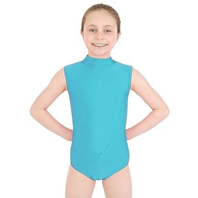 89ccfc61ab72 Dance Gear Harmony Children s Nylon Lycra Polo Neck Leotard  Amazon ...