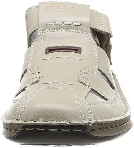 Rieker 05284/60 - Zapatos de Cordones de cuero hombre Beige (Crema / 60)