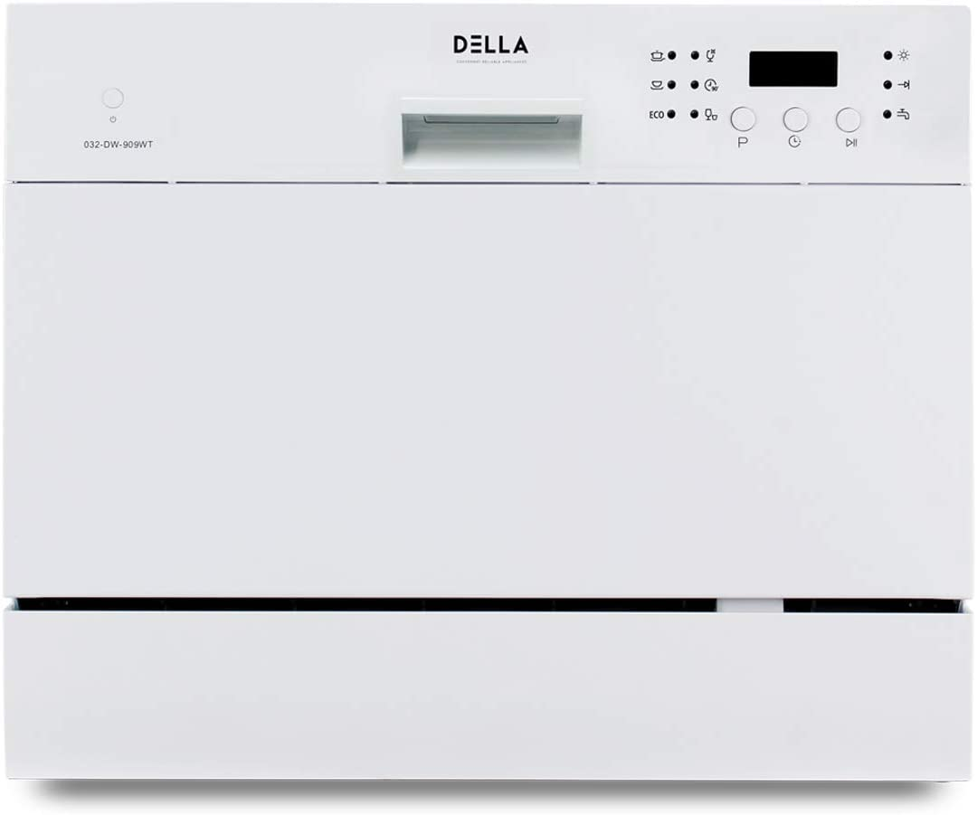 DELLA 6 Place Settings Compact Coutertop Dishwasher