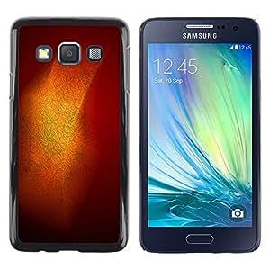 iKiki Tech / Estuche rígido - Gold Shiny Shine Orange Pastel - Samsung Galaxy A3 SM-A300