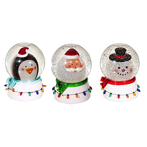 Cypress Home Penguin, Santa and Frosty Snow Globe, Set of 3 by Cypress Home