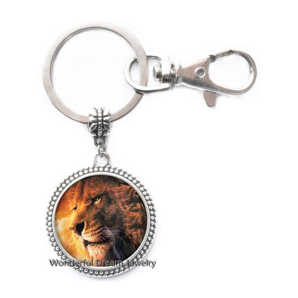Amazon.com: Llavero de león, llavero de león, joyería de ...