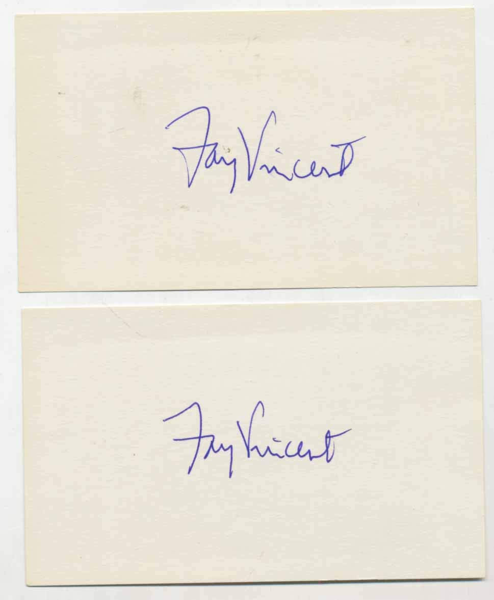 3 x 5 Vincent, Fay (lot of 2) 9.5