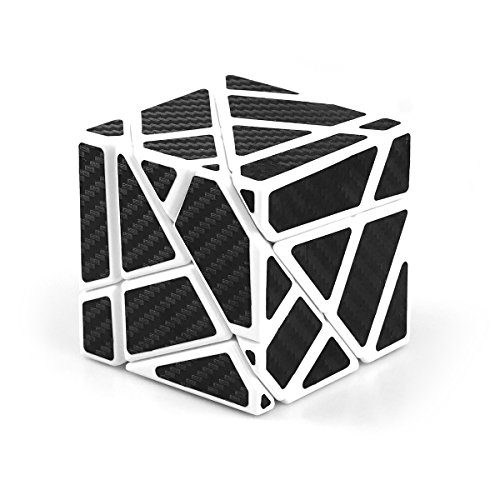 CuberSpeed Fangcun Ghost 3x3 White with Black Sticker Magic cube 3x3 Ghost White 3x3x3 speed cube Black (Stickers Ghost)