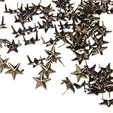 Ecloud ShopUS 2 Pieces 100 Bronze 10mm Leathercraft DIY Star Studs Spots Spikes Rivets Punk