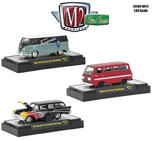 New 1:64 M2 MACHINES COLLECTION - WILD CARDS RELEASE 12 ASSORTMENT SET Diecast Model Car By M2 Machines Set of 3 Cars
