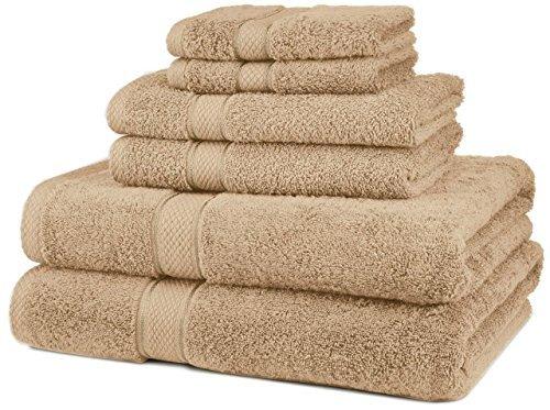 NEW 6 Piece 100% Egyptian Cotton 725 Gram Bath Towel Towels Set Color Driftwood