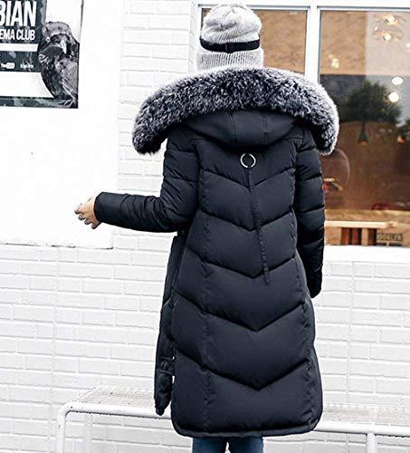 Doudoune Chemin avec Jours Femme Longues Tous Chaud Hiver Fourrure Les Parka Fashion Capuchon qHYH7B
