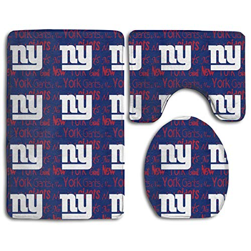 Weckim New York Giants Anti-Skid Lock Water Quick-Dry Bathroom Anti-Skid Three-Piece Set