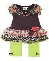 Bonnie Baby Baby-girls Retro Dress with Leggings