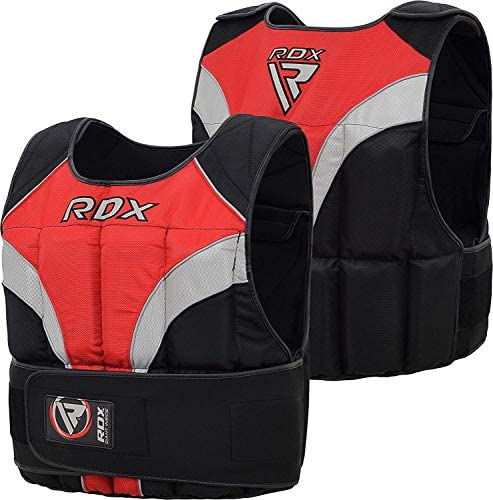 RDX 40LBS 20kg Adjustable Weighted Vest for Running Weight Loss Removable Weights Gym Vest for Sprints Training, Functional Workout, Weight Lifting, Powerlifting and Pull-Ups