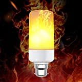 Flame Bulb, BWL B22 LED Flickering Flame Light Bulb, Atmosphere Lighting for Christmas, Home, Hotel, Bar, Festival Decoration.
