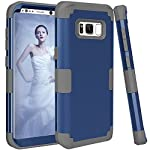 Samsung Galaxy S8 Case, VPR 3 in 1 Hybrid Cover Hard PC Soft Silicone Interior Rubber Scratch Heavy Duty High Impact Shock Absorbing Protective Defender Case for Galaxy S8 2017 18 Only Fit For Samsung Galaxy S8 2017. Reinforced Corner Increase Shock Absorbing when your Galaxy S8 2017 is Dropping on the ground. Rubberized Polycarbonate Armor outer hard case plus Silicone Inner layer cushions and shields your phone from damage. Specifically design Protects the core openings of the phone, including volume controls, power button, and headphone jack.