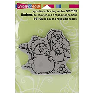 Stampendous cling rubber stamp snowball for Rubber stamps arts and crafts