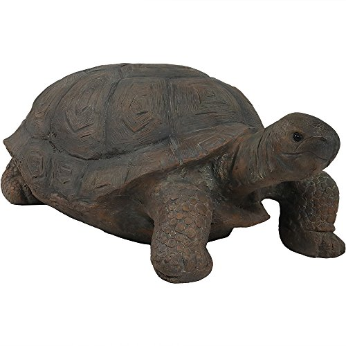 (Sunnydaze Todd The Tortoise Garden Statue, Large Indoor/Outdoor Yard Decoration, 30 Inch)