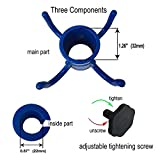 AMMSUN Beach Umbrella Hanging Hook,4-prongs Plastic Umbrellas Hook Hanging for Towels/Camera/Sunglasses/Bags,Fit for Beach,Camping Trips Blue