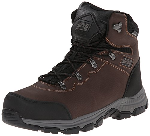 Magnum Men's Austin Mid Steel Toe Waterproof Work Boot, Coffee, 8 M US by Magnum