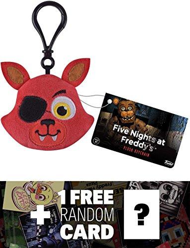 Foxy: Funko x Five Nights at Freddy's Mini-Head Plushy Keychain + 1 FREE Video Games Themed Trading Card Bundle (091514)