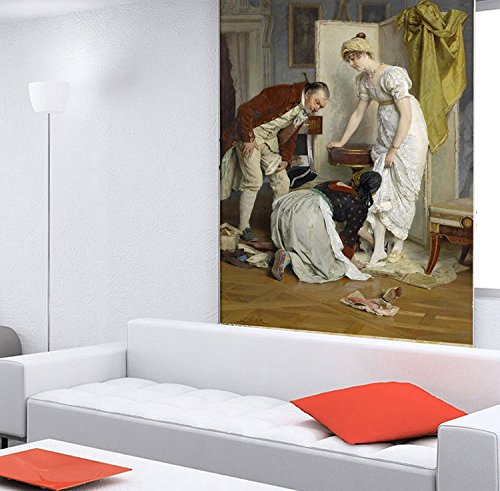 """3D European Palace Oil Painting 007 Wall Paper Print Decal Deco Indoor Wall Mural Self-Adhesive Wallpaper AJ Wallpaper US Carly (Woven Paper (Need Glue), 【87""""x123""""】 219x312cm(WxH))"""