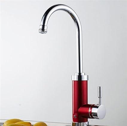 Faucet Kevin Grifo eléctrico Calentador de agua instantáneo Cocina del cuarto de baño Tapón caliente y