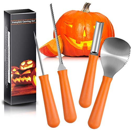 Comfy Mate Kit-Professional Heavy Duty Stainless Steel Set Includes 5 Tools, Used As a Carving Knife for Pumpkin Halloween -