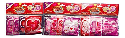 Wack-a-pack Valentines Day Balloons (Set of 3 Packs) Christmas Gift Shaped Mylar Balloon