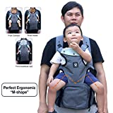 Ergonomic Baby Sling Carrier Bag - Baby Wrap from Newborn to Toddler Baby Carrier Backpack Baby Wrap Carrier Hip seat Baby Carrier for Infants up to 44lbs/20kg Suitable for Both Moms and Dads