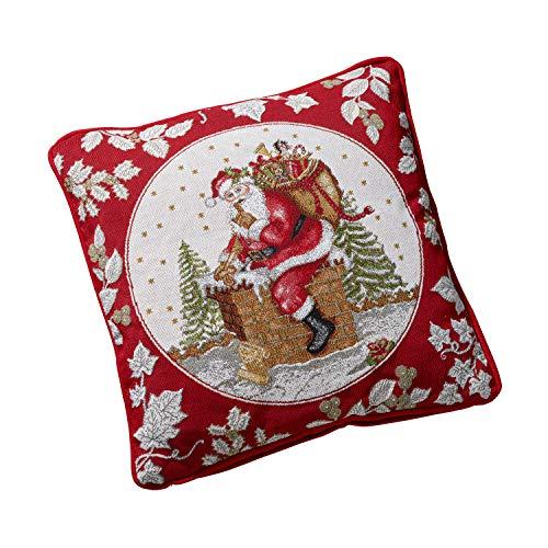 Villeroy & Boch - Cojín Toys Fantasy | Cojín decorativo con motivos de Papá Noel de 70 % algodón y 30 % poliéster, varios colores