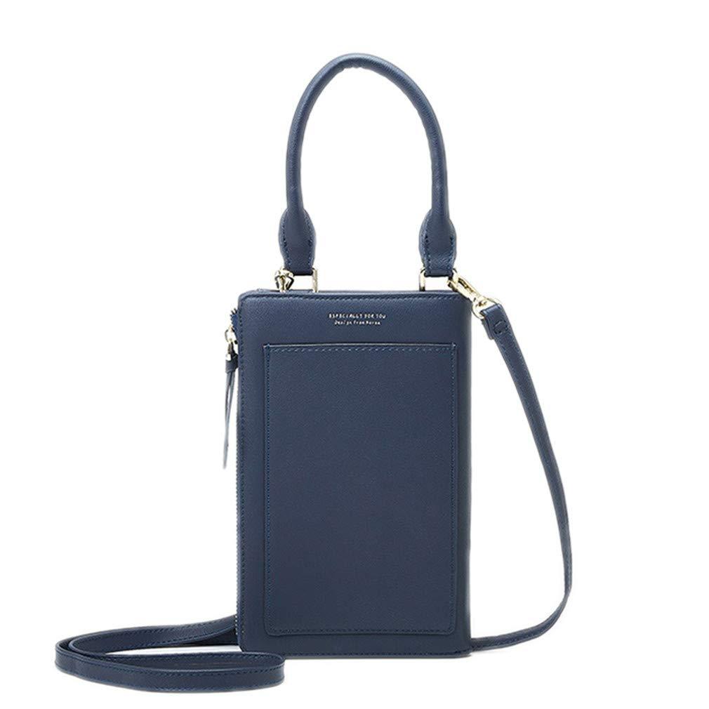 Mumuibag Fashion Women Long Wallet Portable Wrist Bag Blue