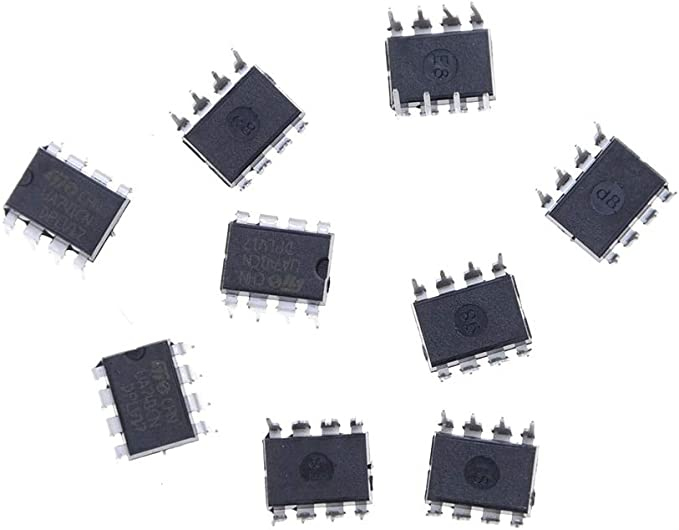 Ic 741-10pcs Ua741cn Lm741 741 Operational Amplifier Op Amp Dip 8 Ic - 7410 Lm741 Voltage Regulators Stabilizers Potentiometer Slim Hard Disk Flip Flop Capacitor Atmega Resistor With Mobile Drive: Amazon.es: Bricolaje y herramientas